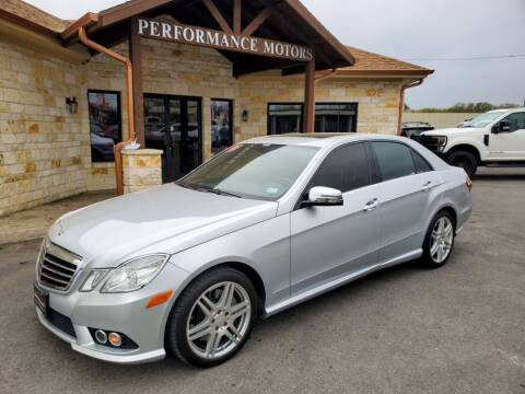 2010 Mercedes-Benz E-Class for sale at Performance Motors Killeen Second Chance in Killeen TX