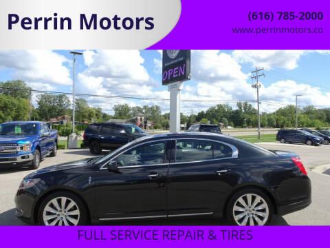 2014 Lincoln MKS for sale at Perrin Motors in Comstock Park MI