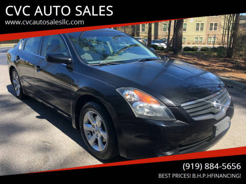 2007 Nissan Altima for sale at CVC AUTO SALES in Durham NC