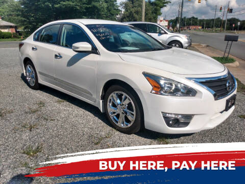 2015 Nissan Altima for sale at HWY 49 MOTORCYCLE AND AUTO CENTER in Liberty NC