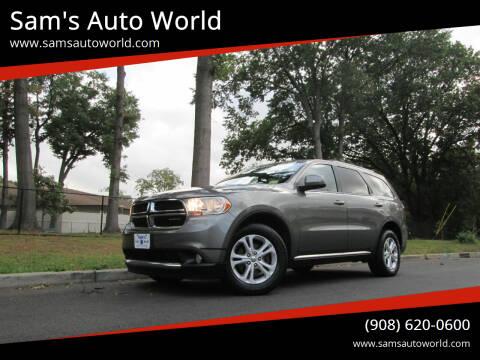 2012 Dodge Durango for sale at Sam's Auto World in Roselle NJ
