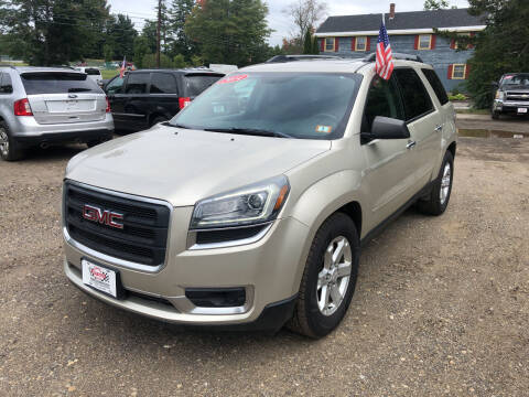 2014 GMC Acadia for sale at Winner's Circle Auto Sales in Tilton NH