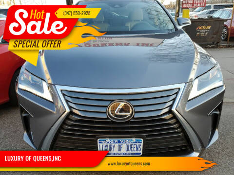 2018 Lexus RX 350 for sale at LUXURY OF QUEENS,INC in Long Island City NY