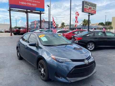 2018 Toyota Corolla for sale at MACHADO AUTO SALES in Miami FL