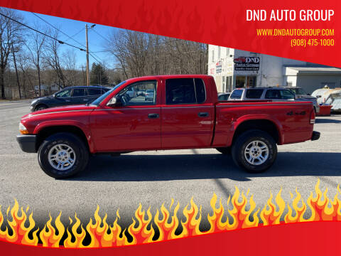 2004 Dodge Dakota for sale at DND AUTO GROUP in Belvidere NJ