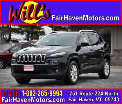 2016 Jeep Cherokee for sale at Will's Fair Haven Motors in Fair Haven VT