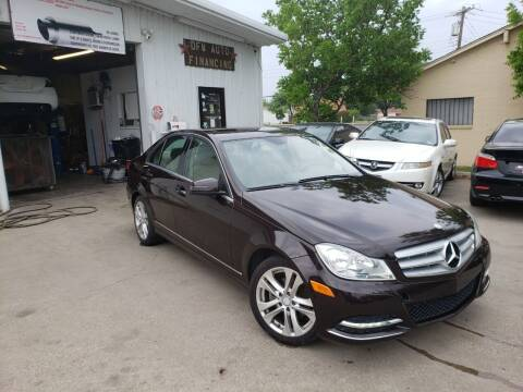 2012 Mercedes-Benz C-Class for sale at DFW AUTO FINANCING LLC in Dallas TX