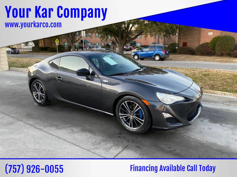 2014 Scion FR-S for sale at Your Kar Company in Norfolk VA