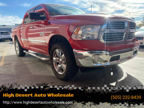 2015 RAM Ram Pickup 1500 for sale at High Desert Auto Wholesale in Albuquerque NM