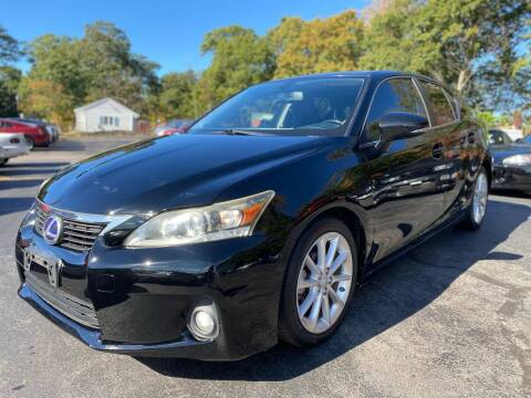 2011 Lexus CT 200h for sale at SOUTH SHORE AUTO GALLERY, INC. in Abington MA
