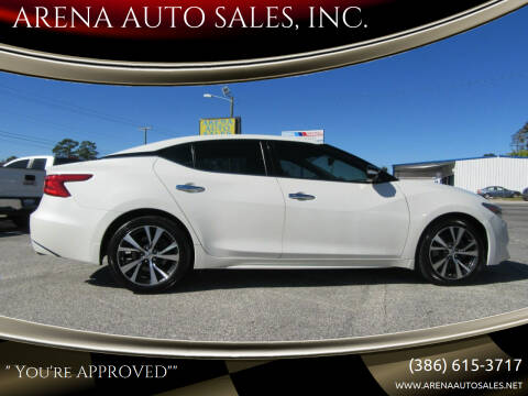 2016 Nissan Maxima for sale at ARENA AUTO SALES,  INC. in Holly Hill FL