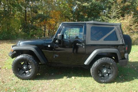 2013 Jeep Wrangler for sale at Bruce H Richardson Auto Sales in Windham NH
