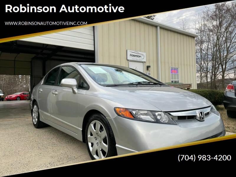 2008 Honda Civic for sale at Robinson Automotive in Albemarle NC