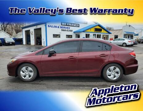 2013 Honda Civic for sale at Appleton Motorcars Sales & Service in Appleton WI