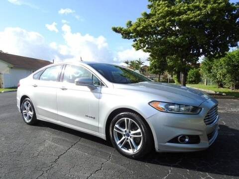 2016 Ford Fusion Hybrid for sale at SUPER DEAL MOTORS 441 in Hollywood FL