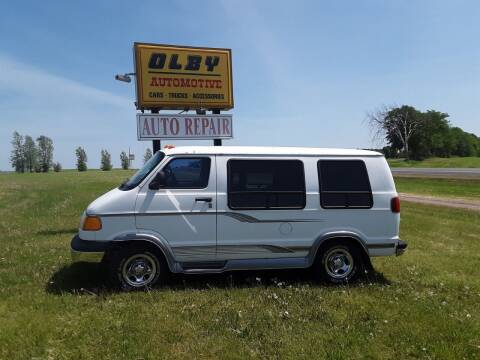 1999 Dodge Ram Van for sale at OLBY AUTOMOTIVE SALES in Frederic WI