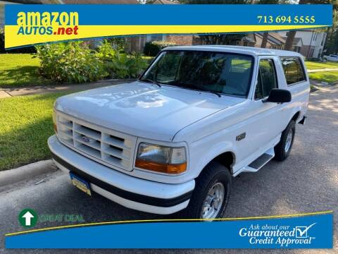 1995 Ford Bronco for sale at Amazon Autos in Houston TX