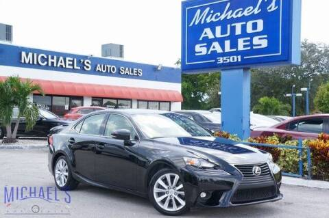 2016 Lexus IS 300 for sale at Michael's Auto Sales Corp in Hollywood FL