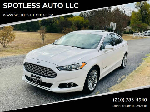 2013 Ford Fusion Hybrid for sale at SPOTLESS AUTO LLC in San Antonio TX