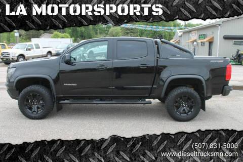 2018 Chevrolet Colorado for sale at LA MOTORSPORTS in Windom MN