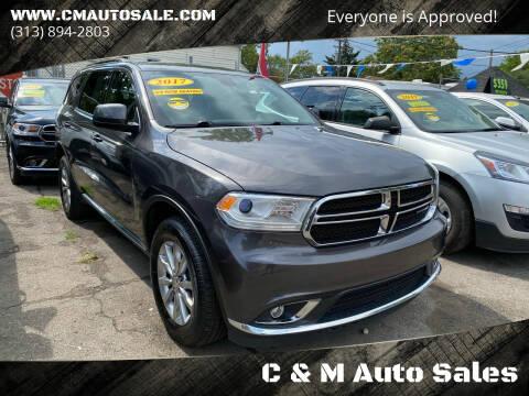 2017 Dodge Durango for sale at C & M Auto Sales in Detroit MI