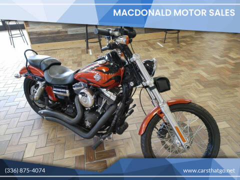 2011 Harley Davidson Dyna Wide Glide for sale at MacDonald Motor Sales in High Point NC