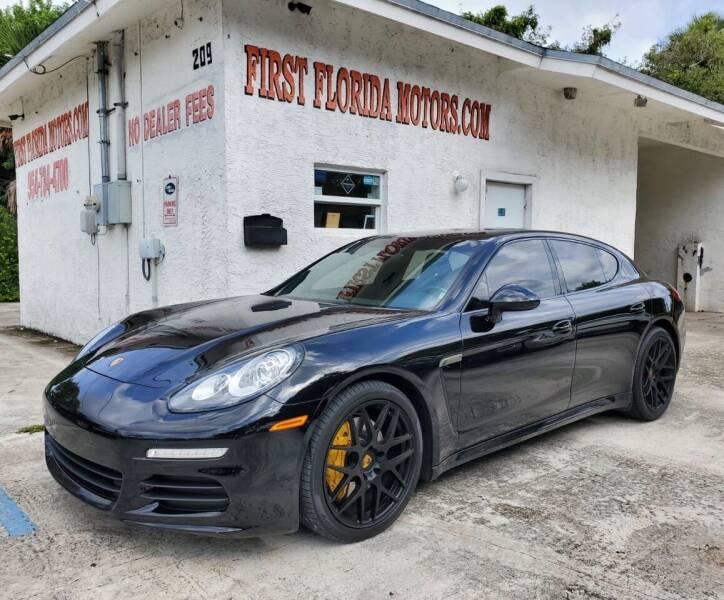 2014 Porsche Panamera for sale at FIRST FLORIDA MOTOR SPORTS in Pompano Beach FL