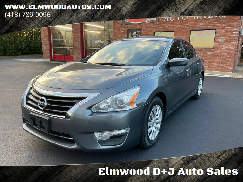 2015 Nissan Altima for sale at Elmwood D+J Auto Sales in Agawam MA