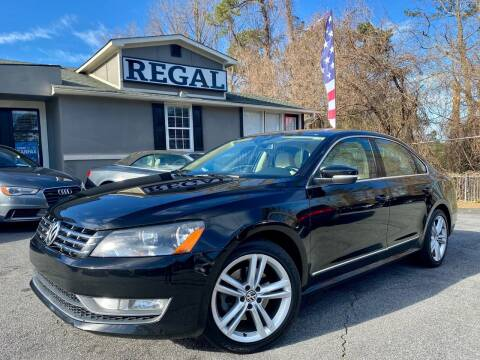 2014 Volkswagen Passat for sale at Regal Auto Sales in Marietta GA