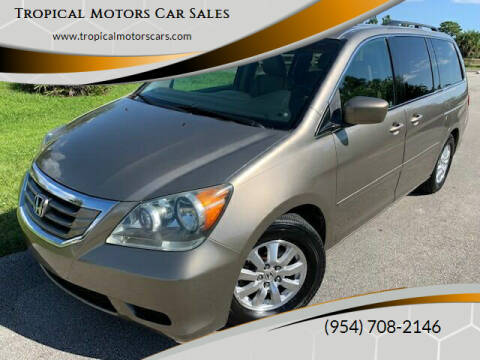 2008 Honda Odyssey for sale at Tropical Motors Car Sales in Deerfield Beach FL