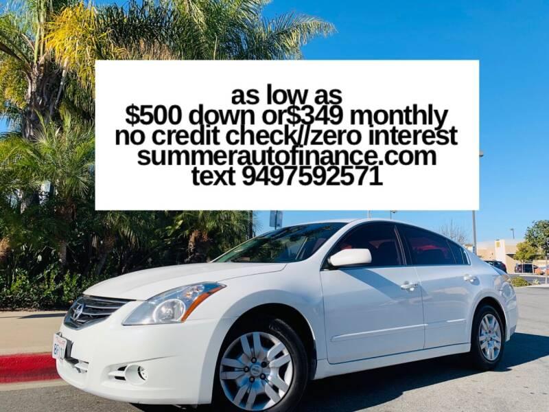 2012 Nissan Altima for sale at SUMMER AUTO FINANCE in Costa Mesa CA