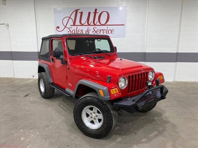2005 Jeep Wrangler for sale at Auto Sales & Service Wholesale in Indianapolis IN