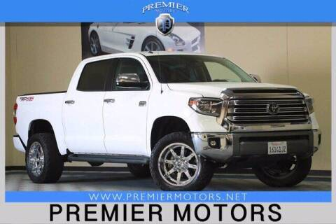 2018 Toyota Tundra for sale at Premier Motors in Hayward CA