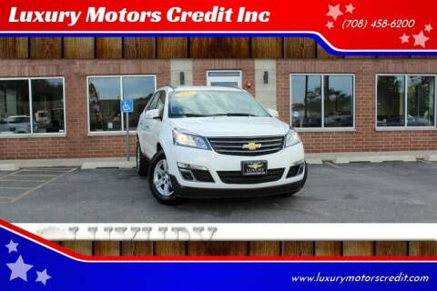 2013 Chevrolet Traverse for sale at Luxury Motors Credit Inc in Bridgeview IL