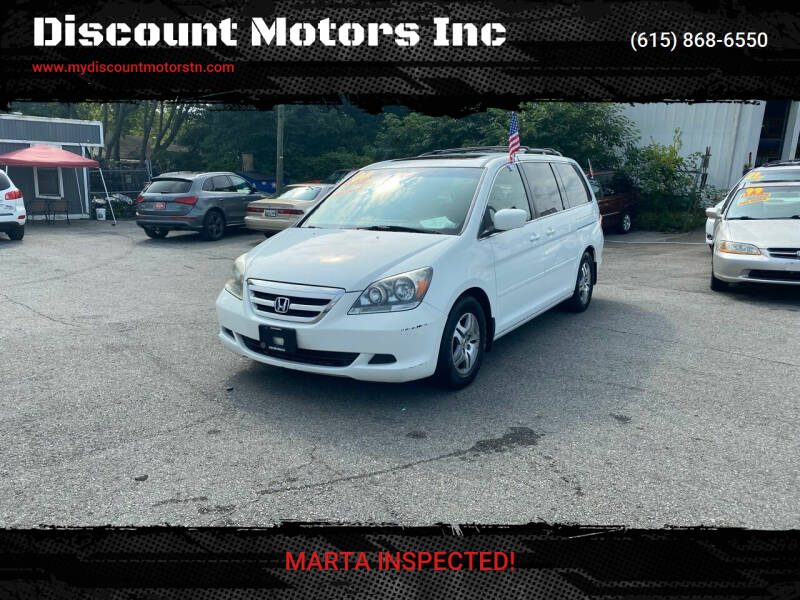 2006 Honda Odyssey for sale at Discount Motors Inc in Madison TN