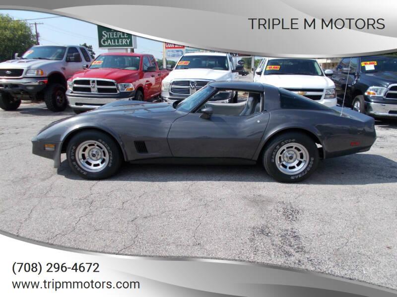 1981 Chevrolet Corvette for sale at Triple M Motors in Saint John IN