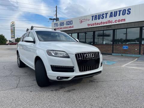 2013 Audi Q7 for sale at Trust Autos, LLC in Decatur GA