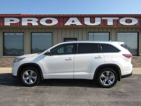 2014 Toyota Highlander for sale at Pro Auto Sales in Carroll IA