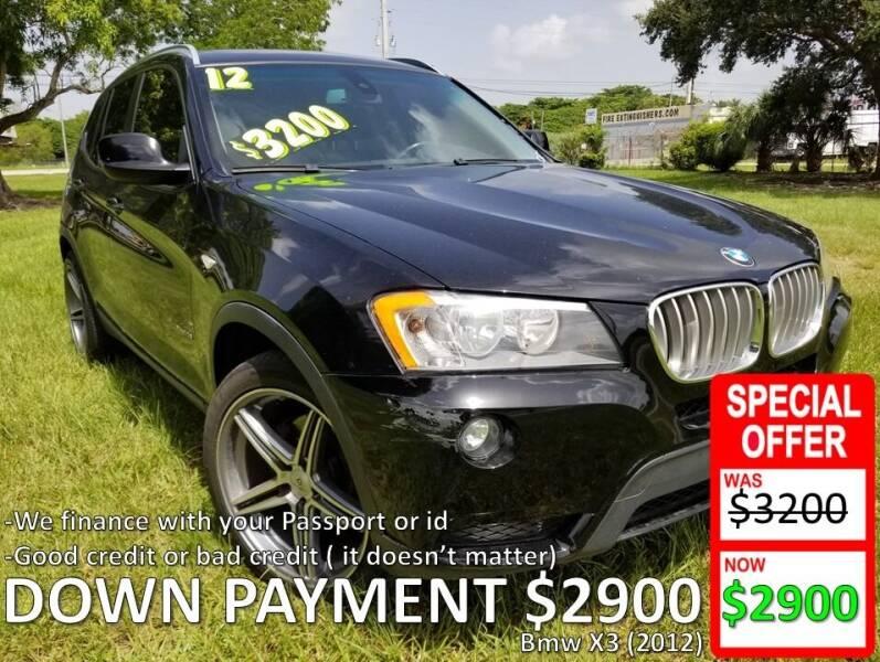 2012 BMW X3 for sale at AUTO COLLECTION OF SOUTH MIAMI in Miami FL