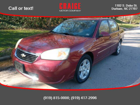 2006 Chevrolet Malibu for sale at CRAIGE MOTOR CO in Durham NC