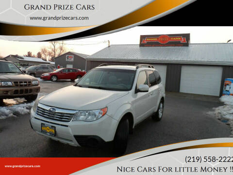 2009 Subaru Forester for sale at Grand Prize Cars in Cedar Lake IN