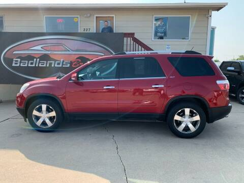 2012 GMC Acadia for sale at Badlands Brokers in Rapid City SD