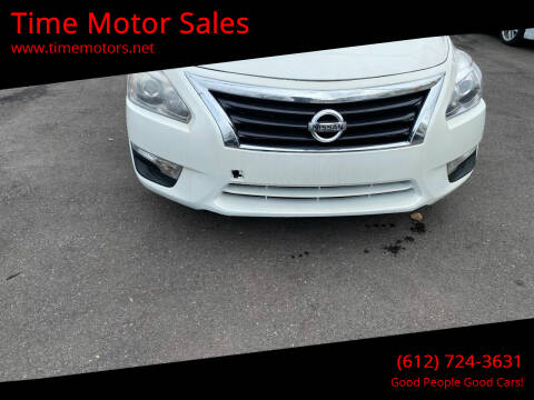 2015 Nissan Altima for sale at Time Motor Sales in Minneapolis MN