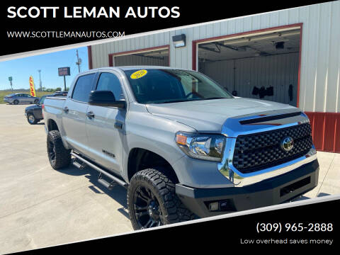 2020 Toyota Tundra for sale at SCOTT LEMAN AUTOS in Goodfield IL
