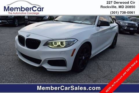 2014 BMW 2 Series for sale at MemberCar in Rockville MD