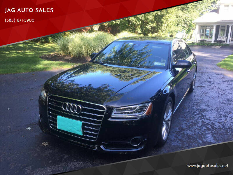 2017 Audi A8 L for sale at JAG AUTO SALES in Webster NY