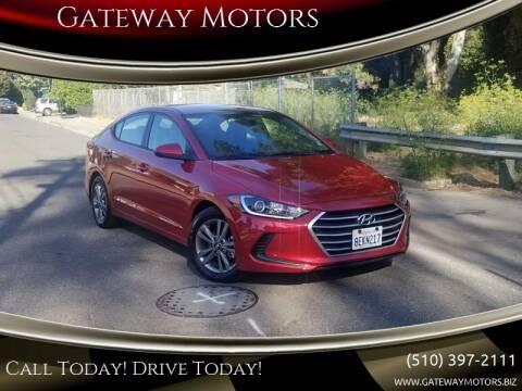 2018 Hyundai Elantra for sale at Gateway Motors in Hayward CA