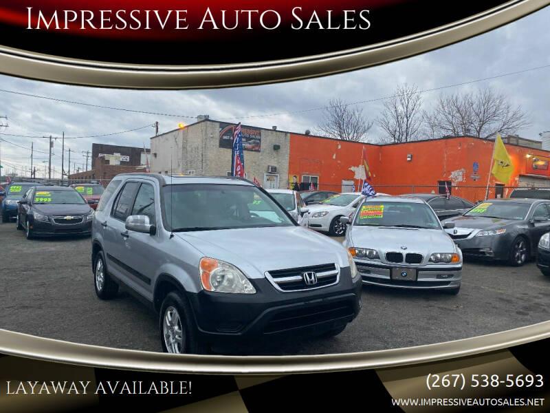2003 Honda CR-V for sale at Impressive Auto Sales in Philadelphia PA