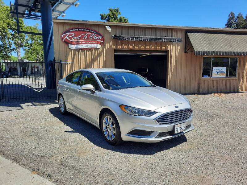 2017 Ford Fusion for sale at Rent To Own Auto Showroom LLC - Finance Inventory in Modesto CA