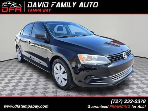2013 Volkswagen Jetta for sale at David Family Auto, Inc. in New Port Richey FL